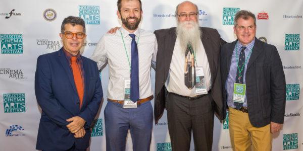 Richard Herskowitz, Andrew Sherburne, Michael Zahs, and Richard Kwiatkowski on the red carpet